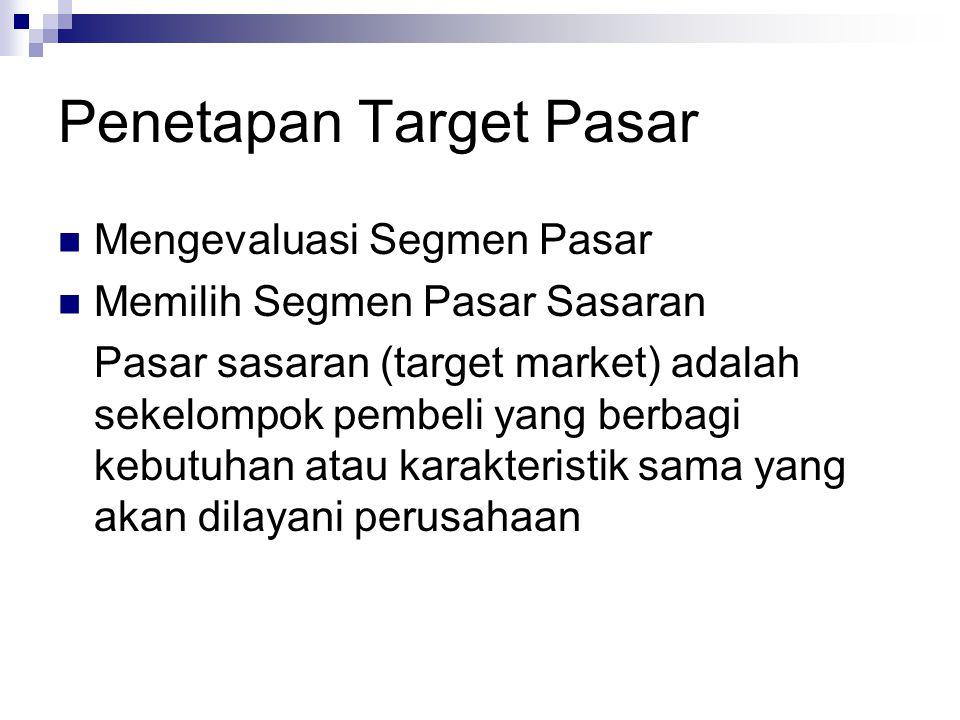 Penetapan Target Pasar