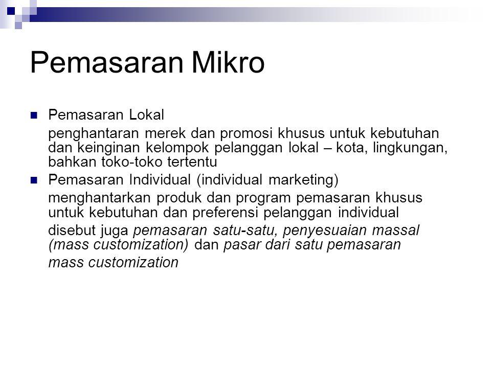Pemasaran Mikro Pemasaran Lokal
