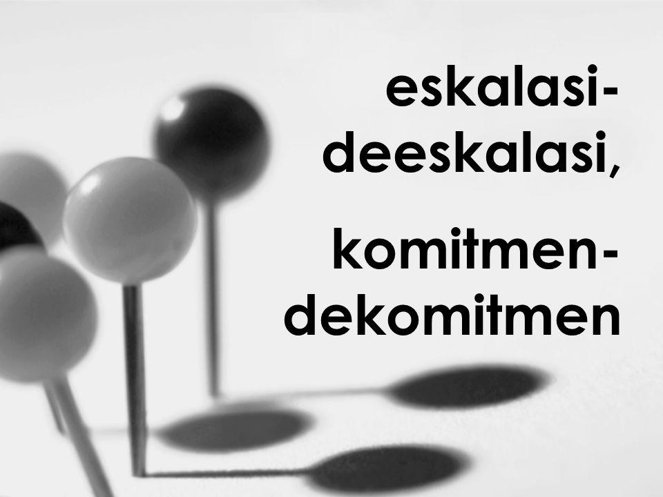 eskalasi-deeskalasi, komitmen-dekomitmen