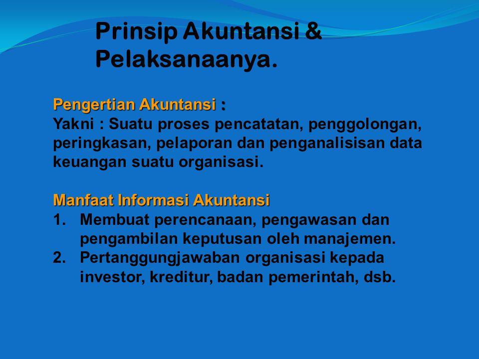 Prinsip Akuntansi & Pelaksanaanya.