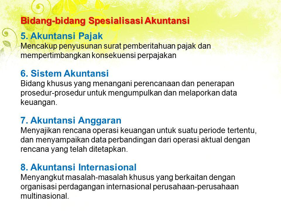 Bidang-bidang Spesialisasi Akuntansi