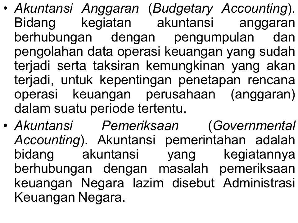 Akuntansi Anggaran (Budgetary Accounting)