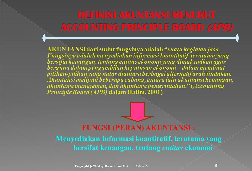 DEFINISI AKUNTANSI MENURUT ACCOUNTING PRINCIPLE BOARD (APB)