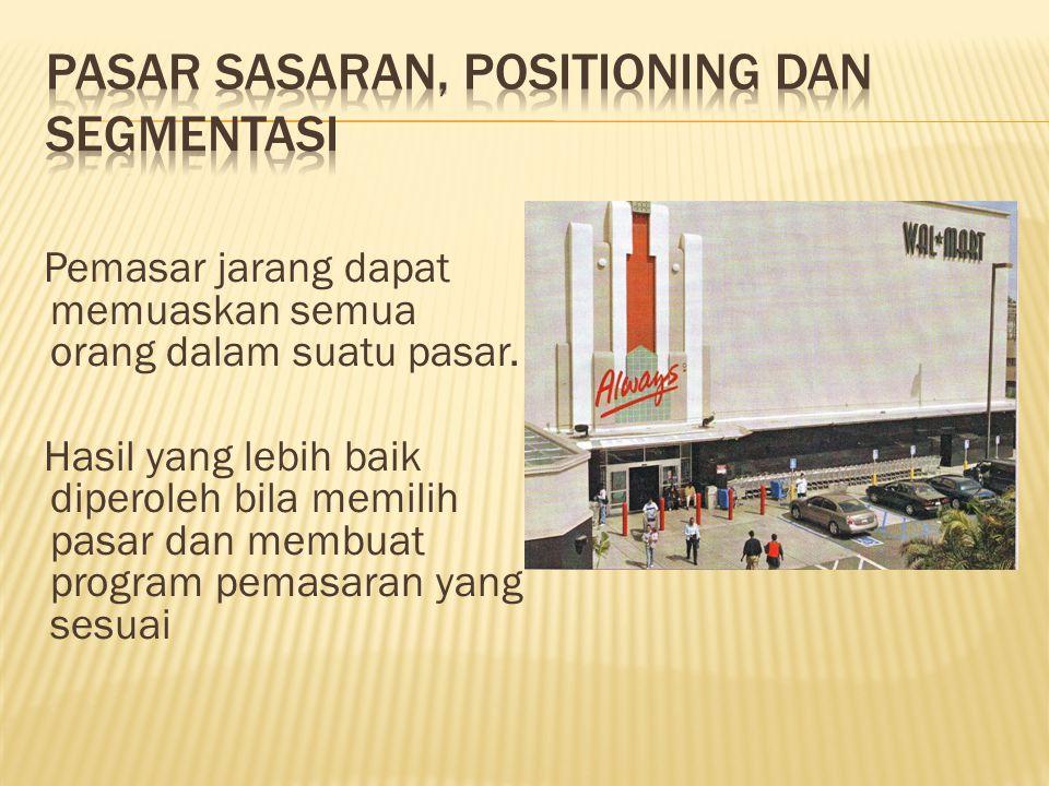 Pasar Sasaran, Positioning dan Segmentasi