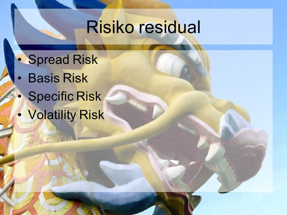 Risiko residual Spread Risk Basis Risk Specific Risk Volatility Risk