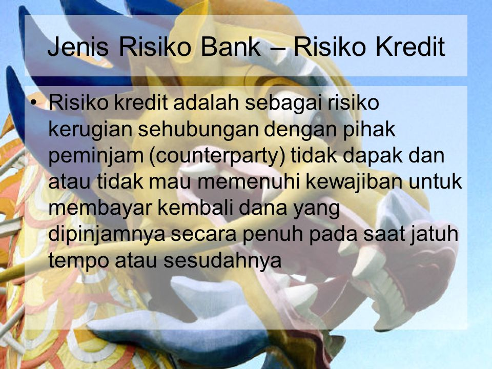 Jenis Risiko Bank – Risiko Kredit