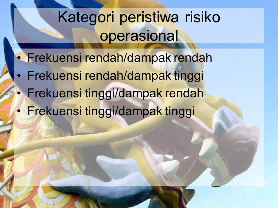 Kategori peristiwa risiko operasional