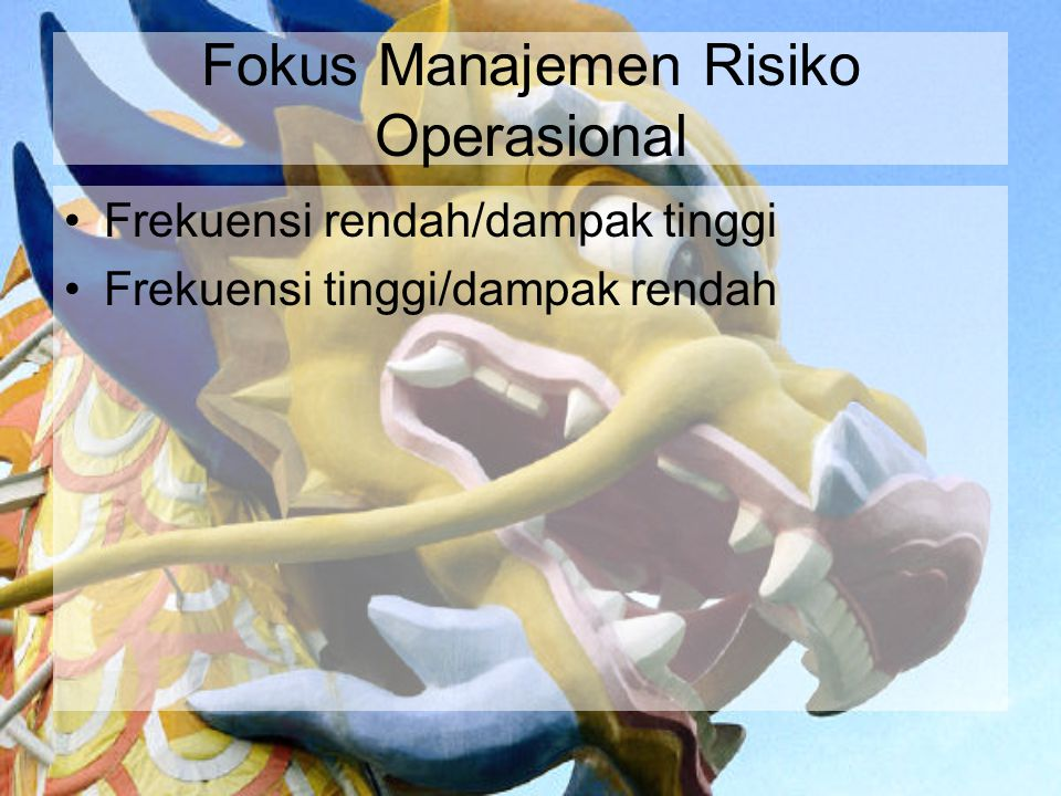 Fokus Manajemen Risiko Operasional