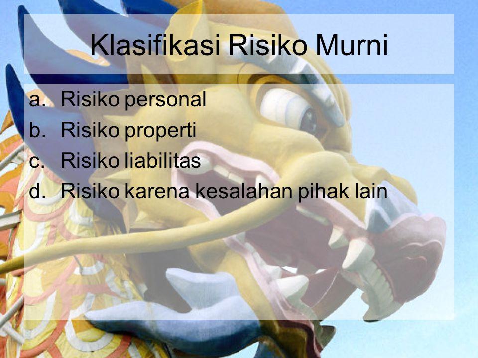 Klasifikasi Risiko Murni
