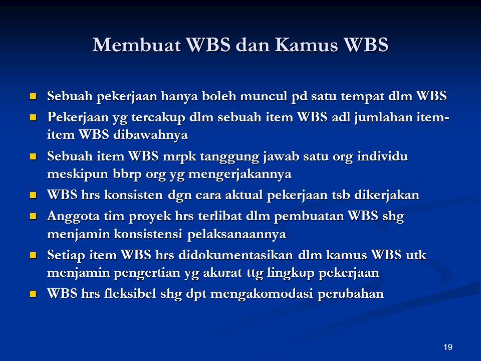 Membuat WBS dan Kamus WBS