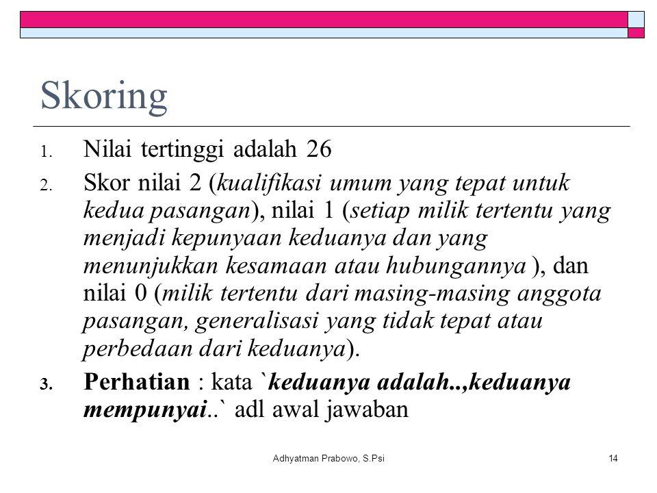 Adhyatman Prabowo, S.Psi