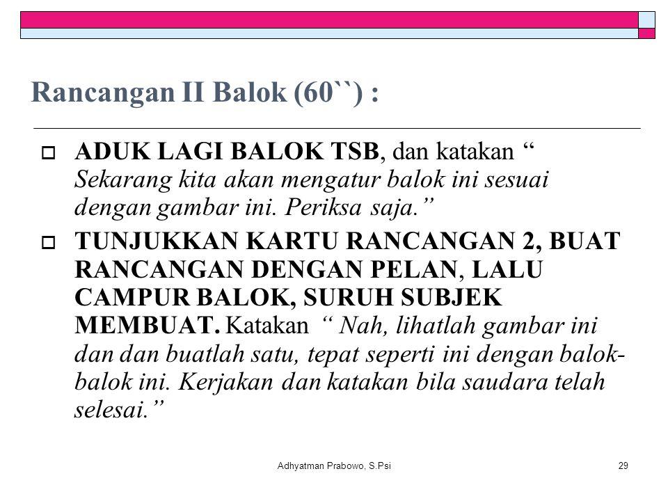 Rancangan II Balok (60``) :