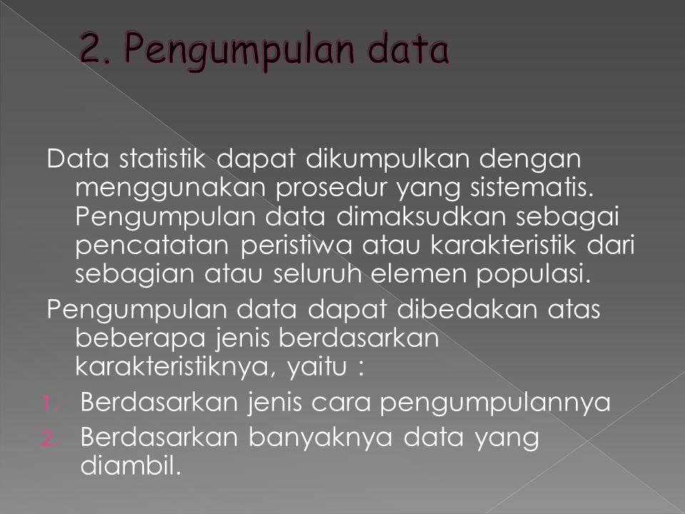 2. Pengumpulan data