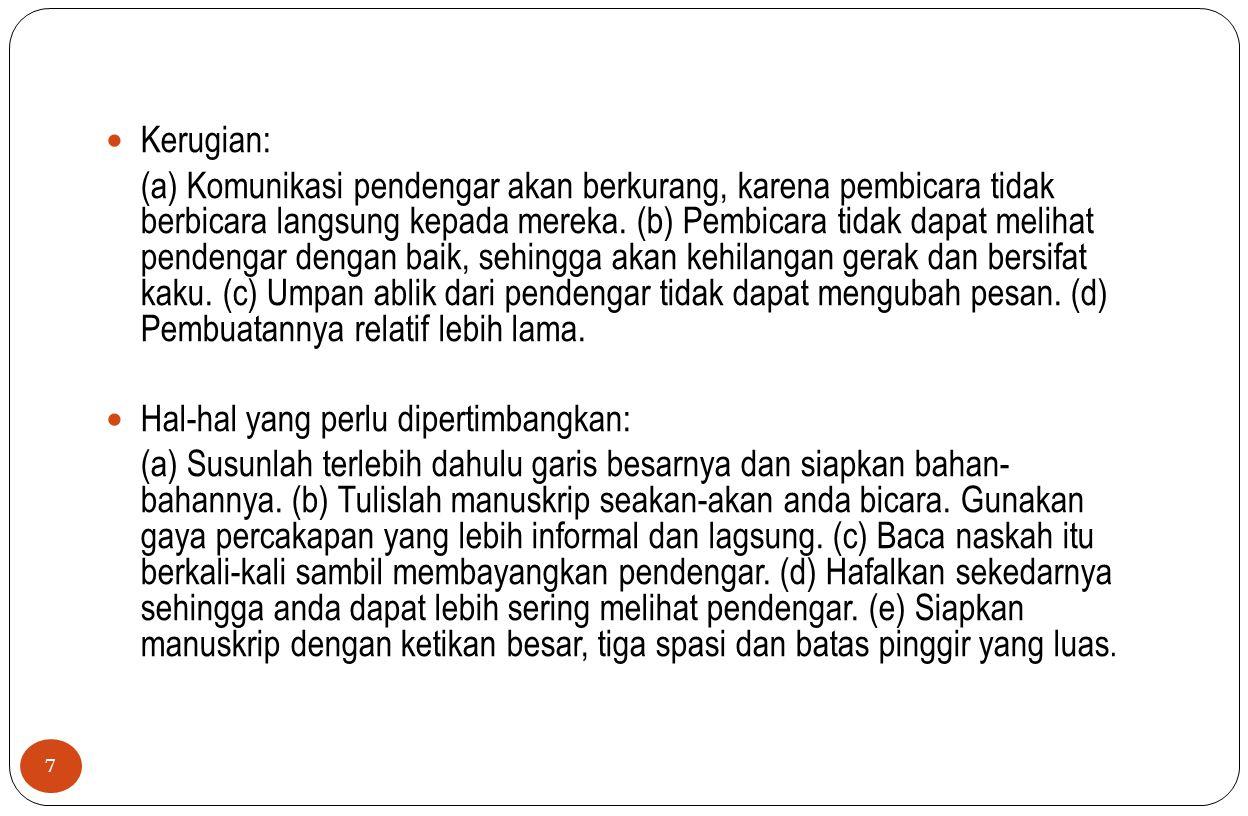 Kerugian: