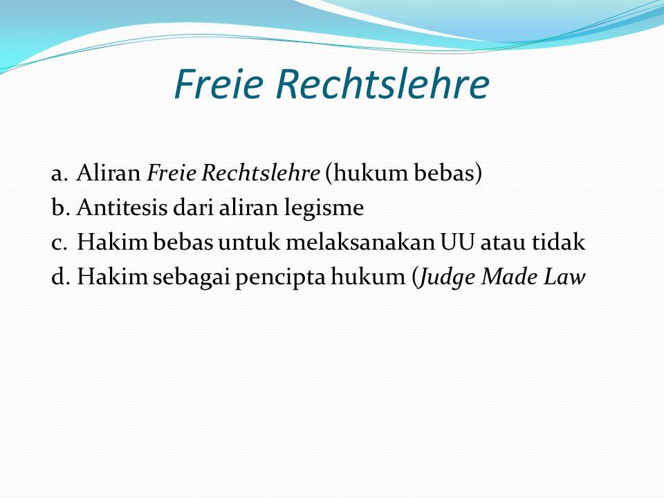 Freie Rechtslehre Aliran Freie Rechtslehre (hukum bebas)