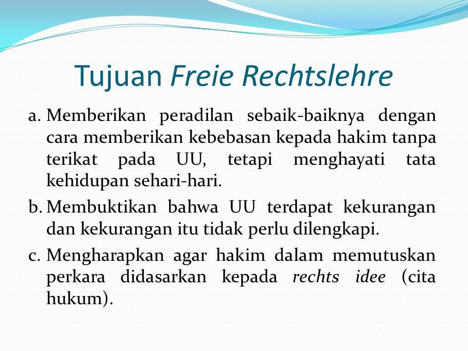 Tujuan Freie Rechtslehre