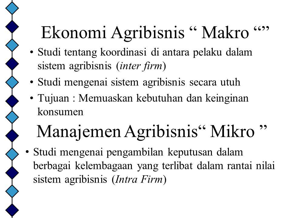 Ekonomi Agribisnis Makro