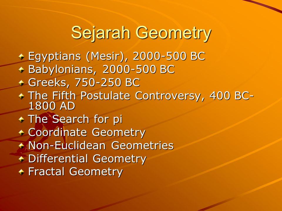 Sejarah Geometry Egyptians (Mesir), 2000-500 BC