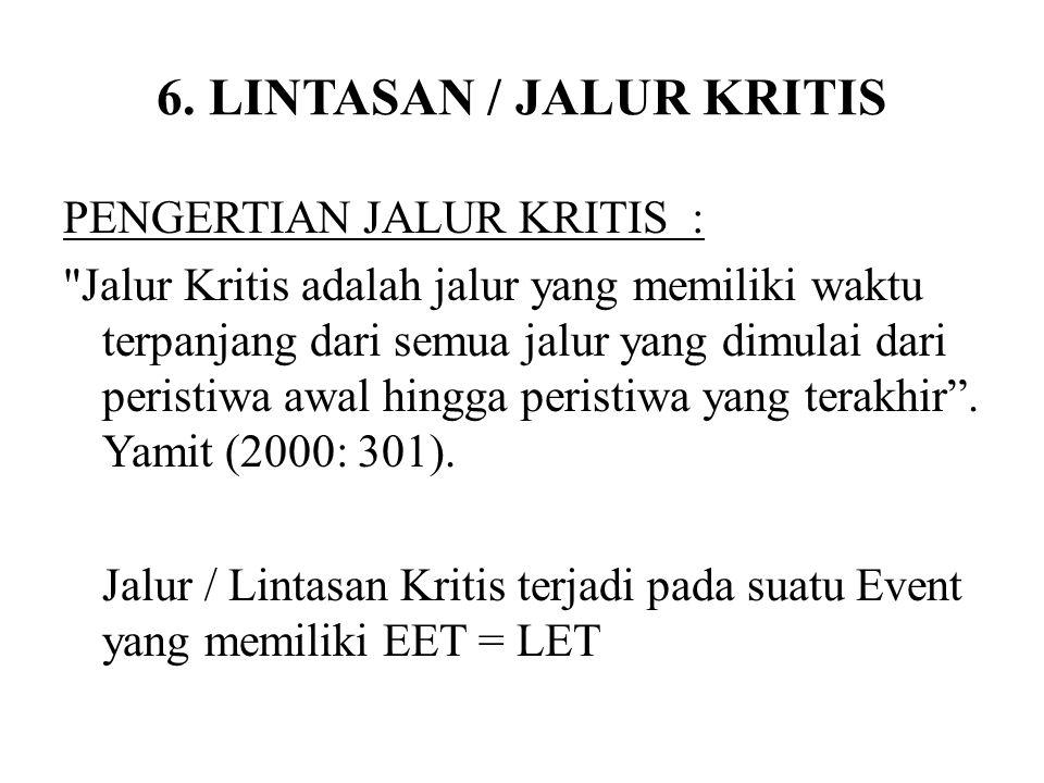 6. LINTASAN / JALUR KRITIS