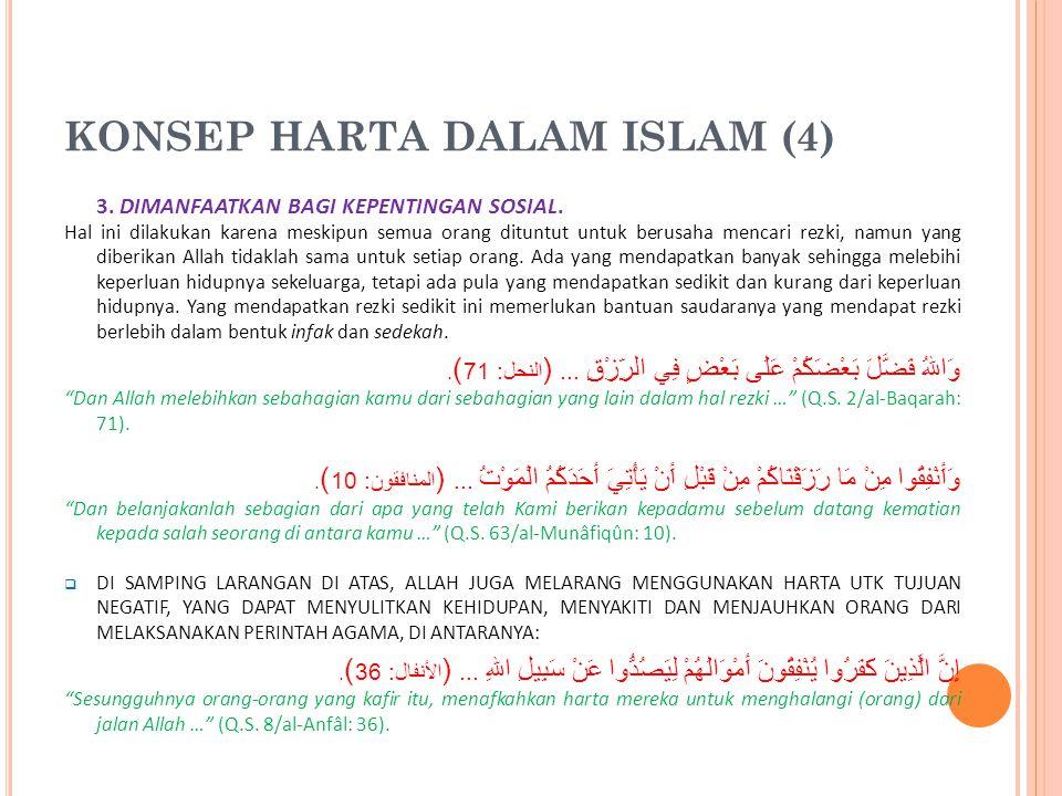 KONSEP HARTA DALAM ISLAM (4)