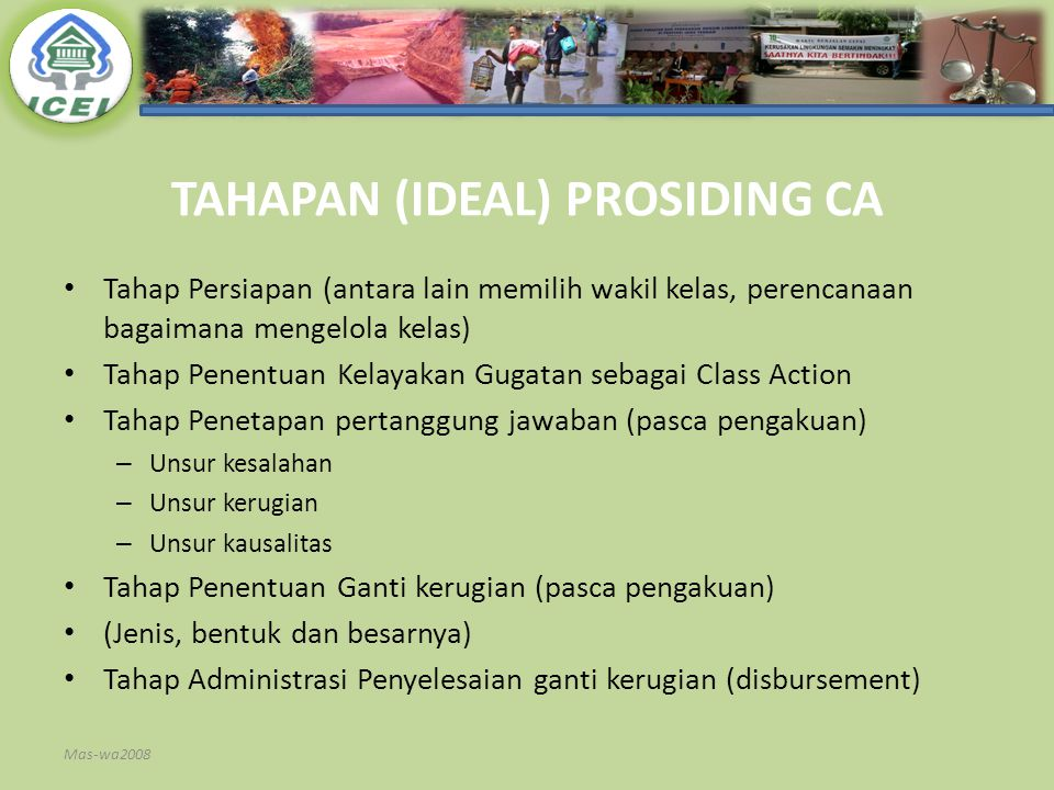 TAHAPAN (IDEAL) PROSIDING CA