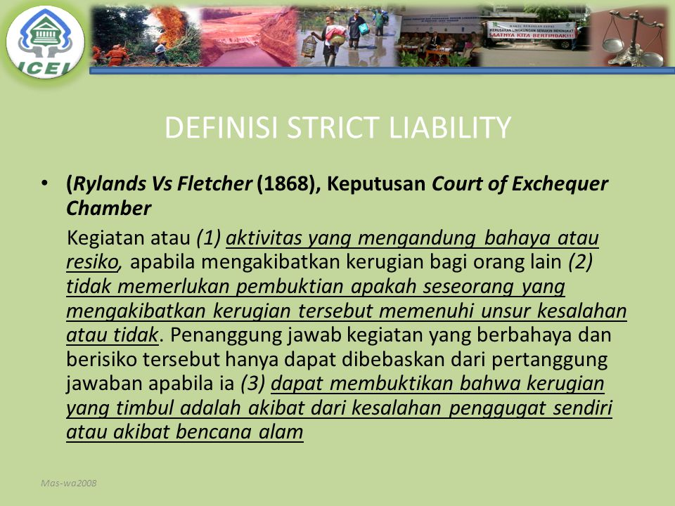 DEFINISI STRICT LIABILITY