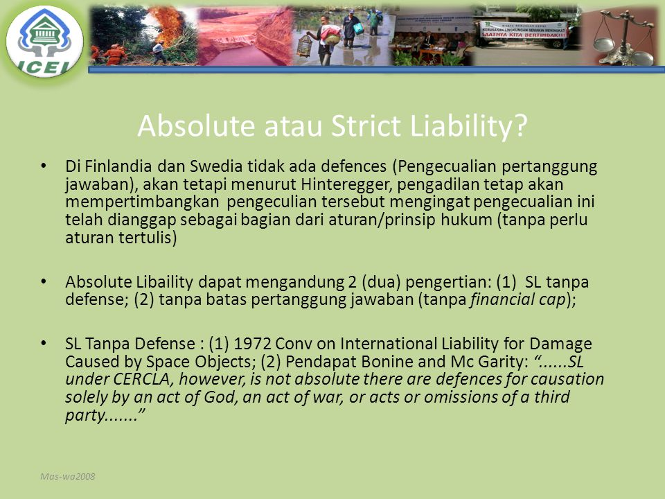 Absolute atau Strict Liability