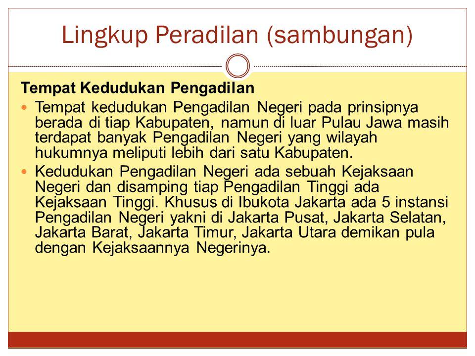 Lingkup Peradilan (sambungan)