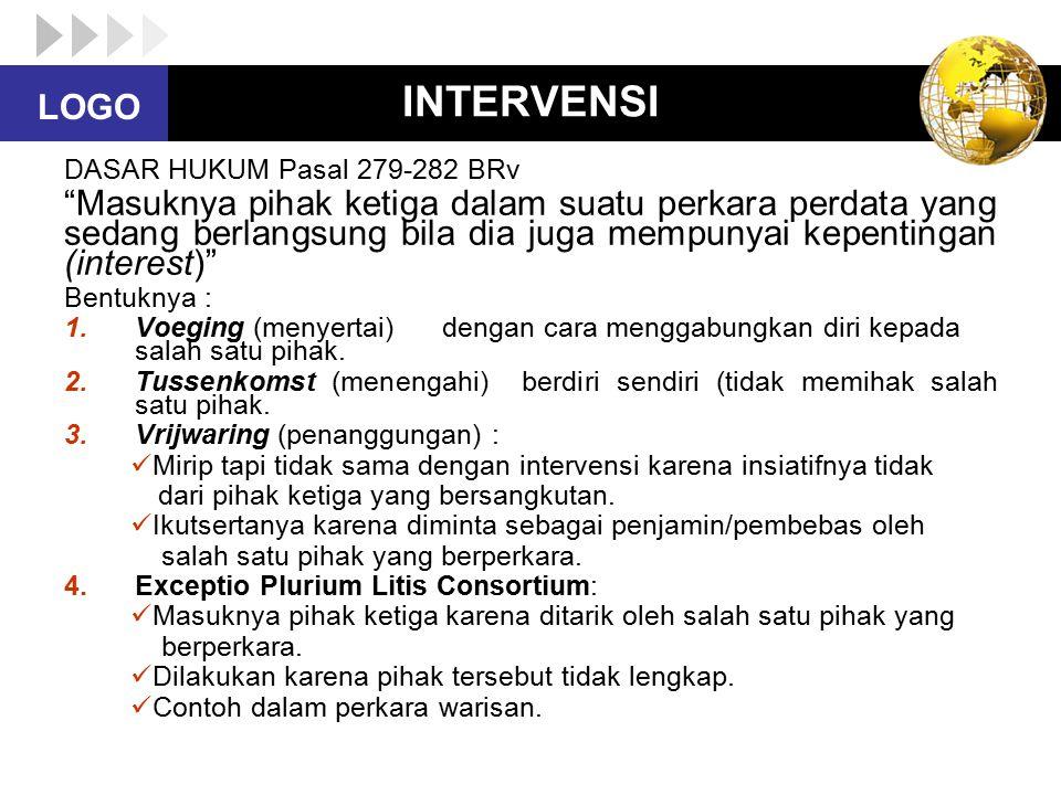 INTERVENSI DASAR HUKUM Pasal 279-282 BRv.