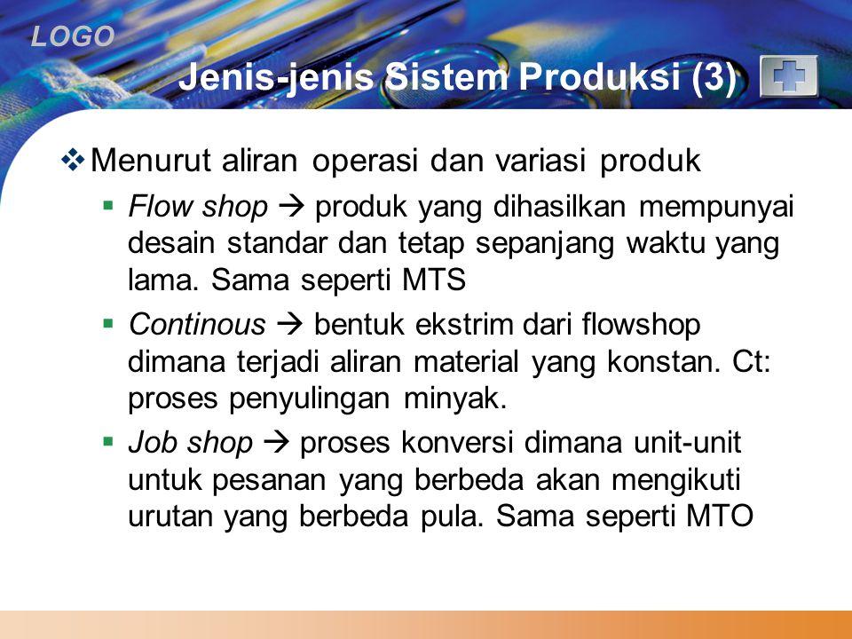 Jenis-jenis Sistem Produksi (3)