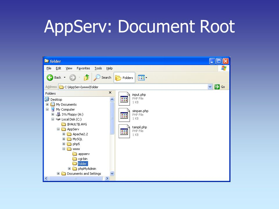 AppServ: Document Root