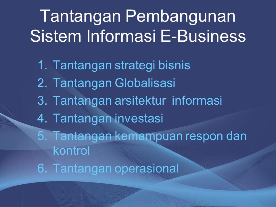 Tantangan Pembangunan Sistem Informasi E-Business