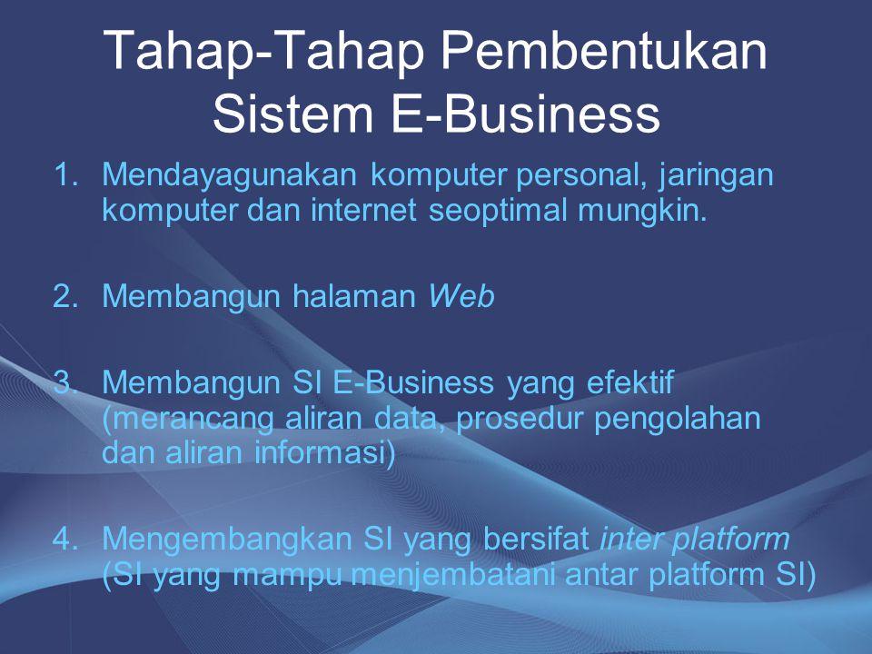 Tahap-Tahap Pembentukan Sistem E-Business