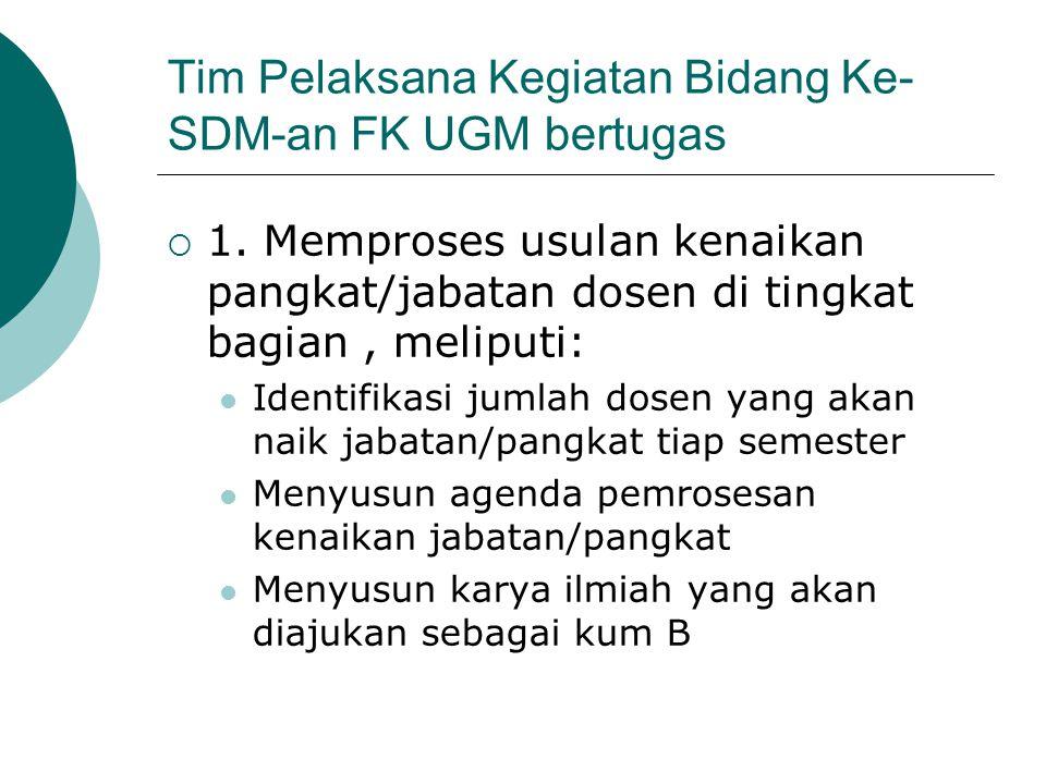 Tim Pelaksana Kegiatan Bidang Ke-SDM-an FK UGM bertugas