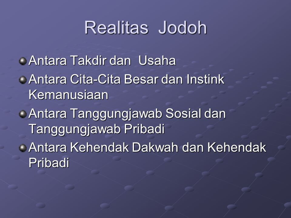 Realitas Jodoh Antara Takdir dan Usaha