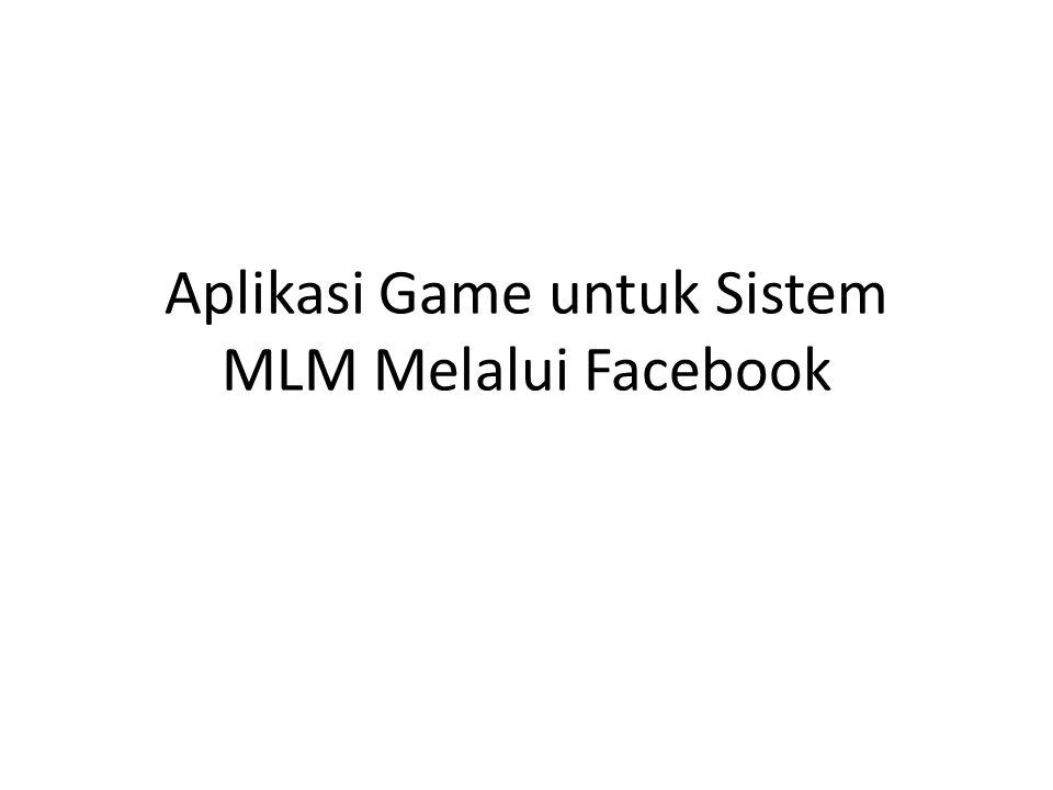 Aplikasi Game untuk Sistem MLM Melalui Facebook