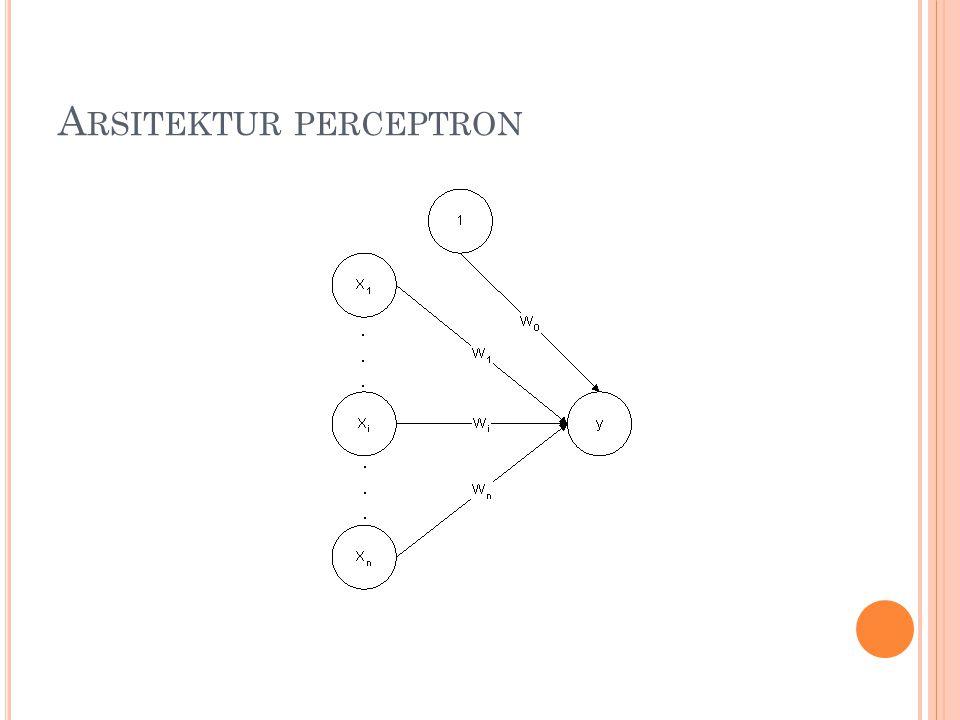 Arsitektur perceptron