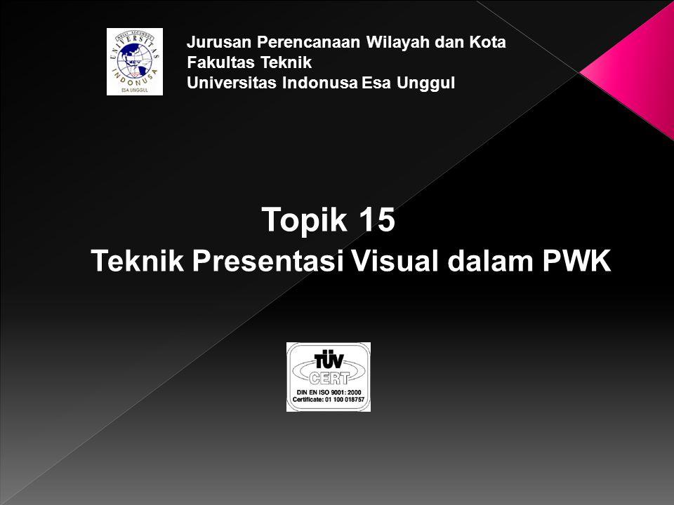 Topik 15 Teknik Presentasi Visual dalam PWK