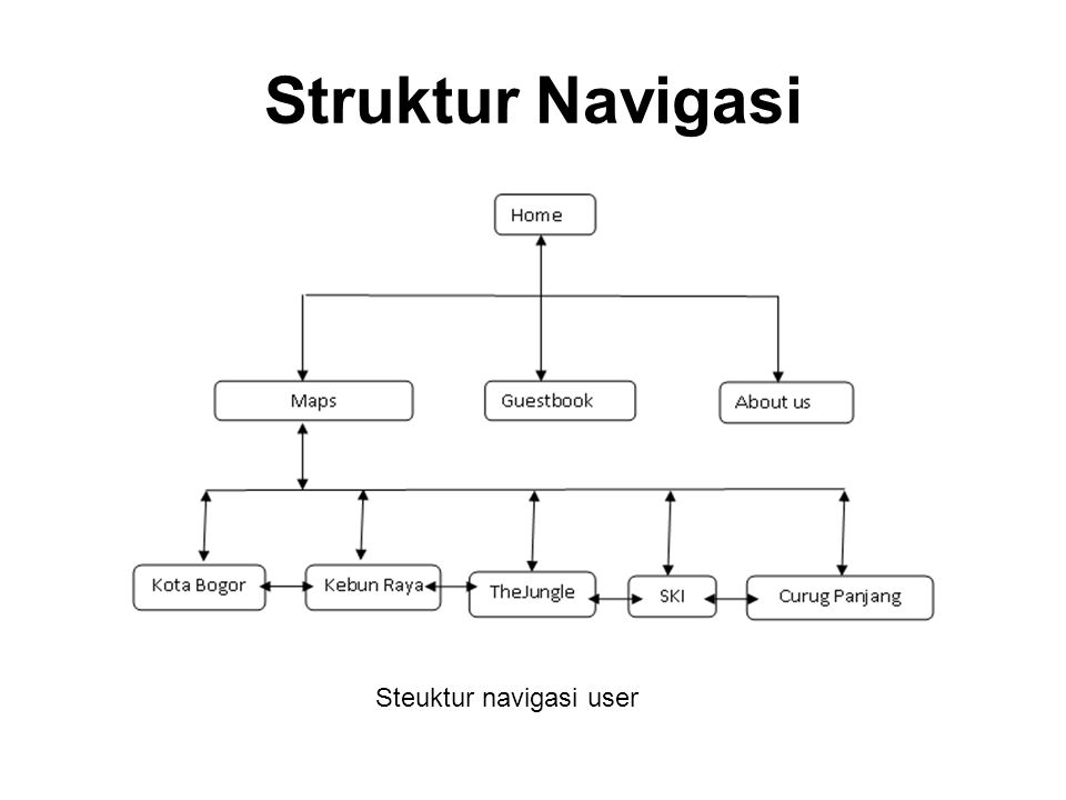 Steuktur navigasi user