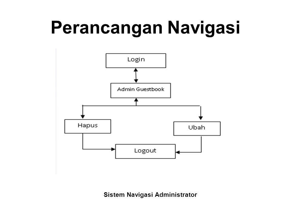 Sistem Navigasi Administrator
