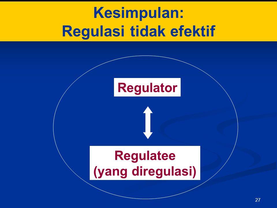 Regulasi tidak efektif