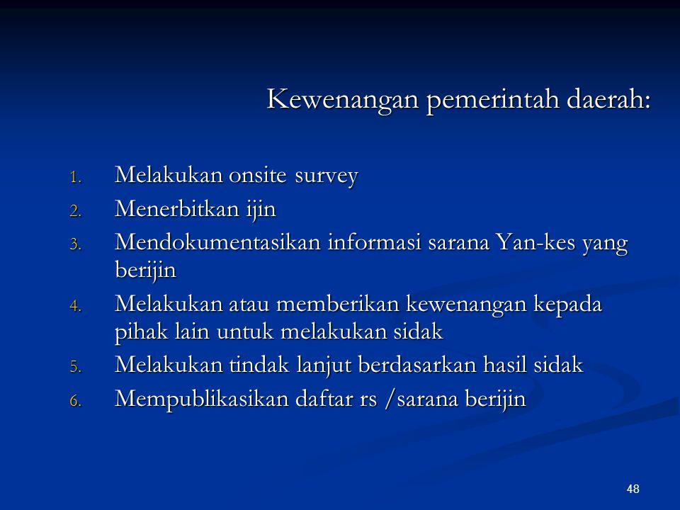 Kewenangan pemerintah daerah: