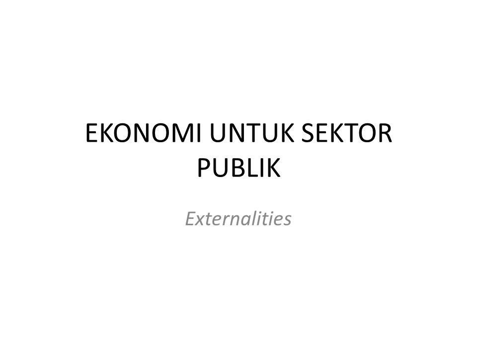 EKONOMI UNTUK SEKTOR PUBLIK