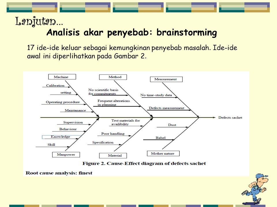 Analisis akar penyebab: brainstorming