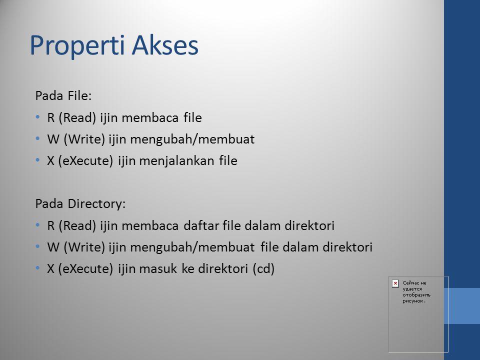 Properti Akses Pada File: R (Read) ijin membaca file