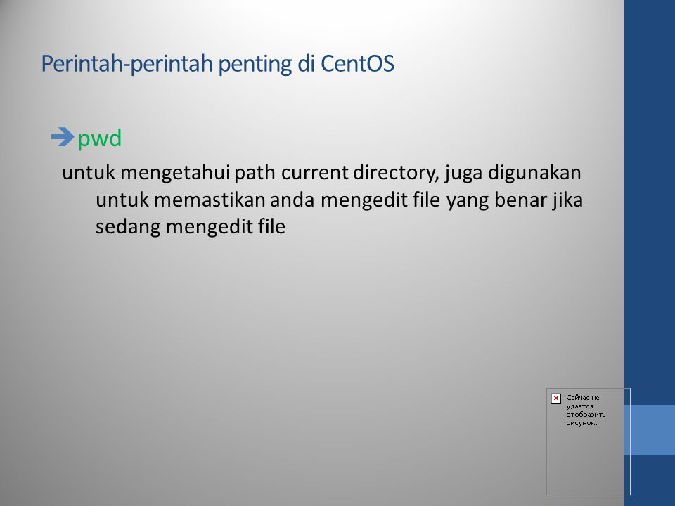 Perintah-perintah penting di CentOS
