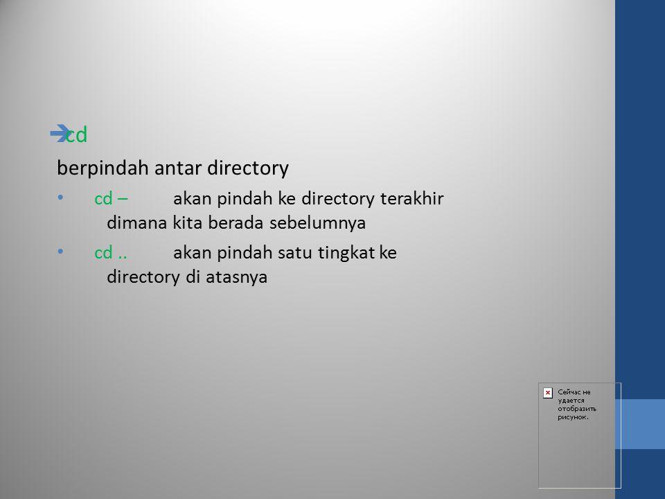 cd berpindah antar directory