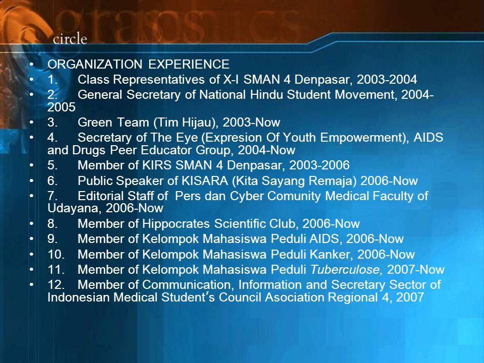 ORGANIZATION EXPERIENCE