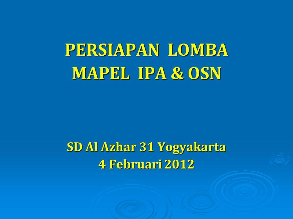 SD Al Azhar 31 Yogyakarta 4 Februari 2012