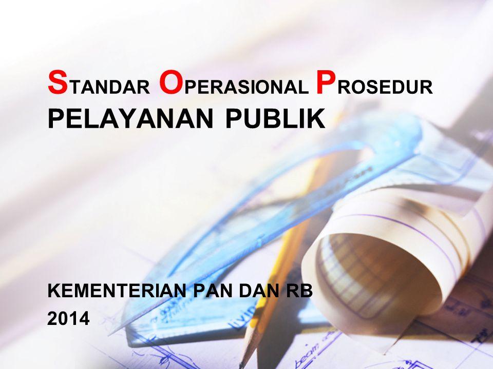 STANDAR OPERASIONAL PROSEDUR PELAYANAN PUBLIK